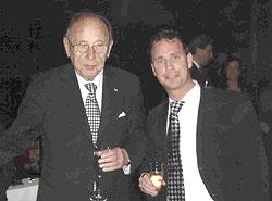 Hr. Radermacher mit Hans Dietrich Genscher